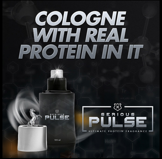 The perfect musclebuilding: cologne with real protein in it!